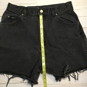 Lee Shorts - VINTAGE  Lee black high waisted denim shorts sz14